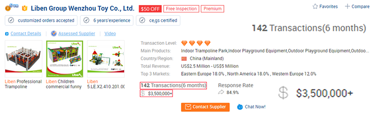 Liben Transactions on Alibaba