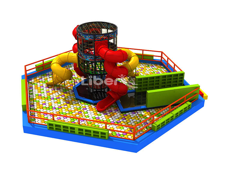 Ball Pool Spider Tower with Slides-2