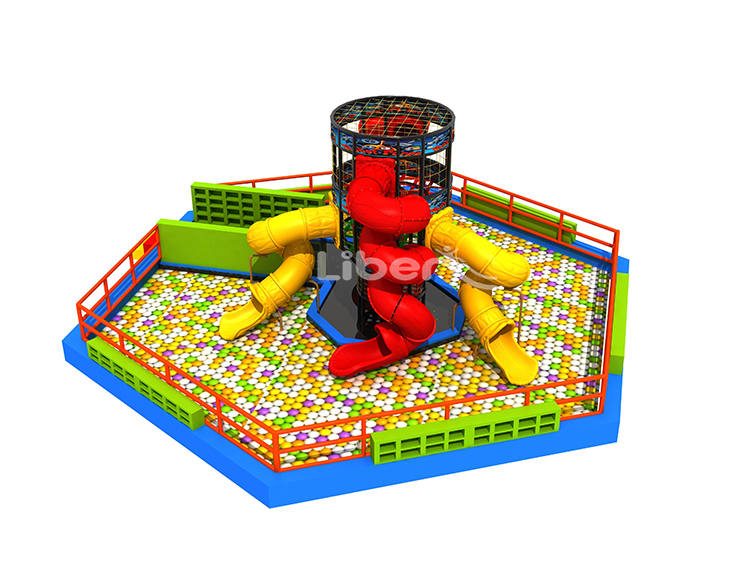 Ball Pool Spider Tower with Slides-3