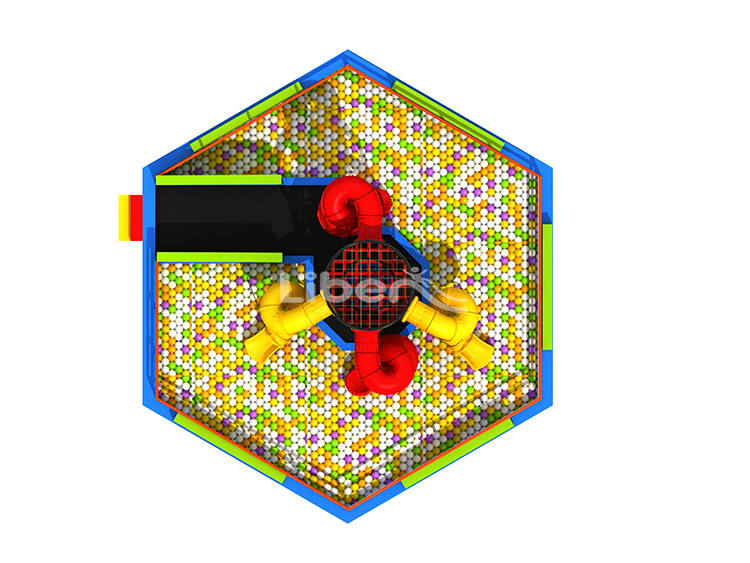 Ball Pool Spider Tower with Slides-4