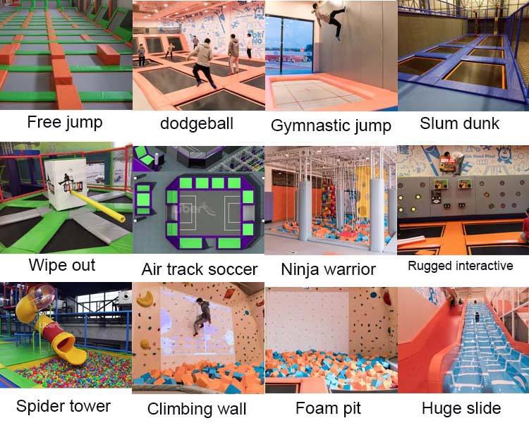 indoor trampoline park games