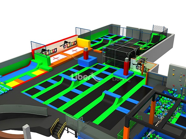with Customized Design Indoor Trampoline Park Builder