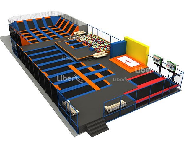 Skyzone type china indoor large trampoline park design for Indoor trampoline park design manufacturing