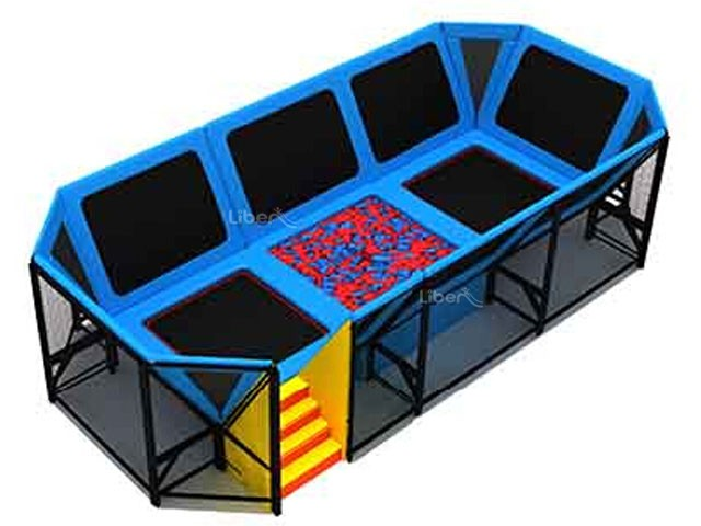 how to get foam pit on a trampoline