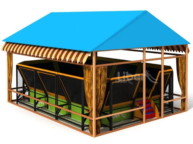 design trampoline park with shelter. Black Bedroom Furniture Sets. Home Design Ideas