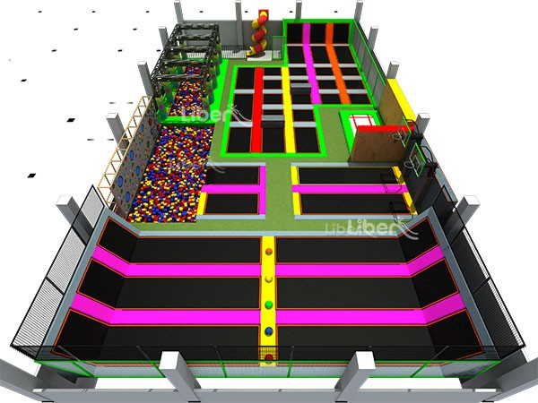 Liben Indoor Amusement Trampoline Park Maker in China