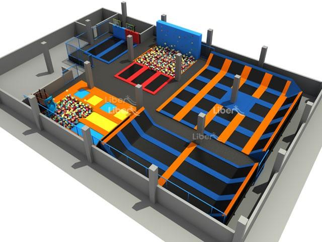 2016 newest design large customized trampoline park for Indoor trampoline park design manufacturing