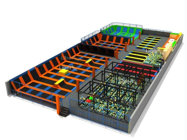 Large children indoor trampoline park supplier for Indoor trampoline park design manufacturing
