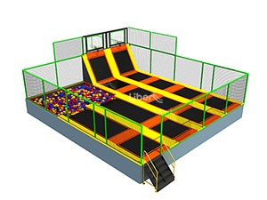 100 Square Meters China Best Quality Rectangular Foam Pit Indoor Trampoline Supplier