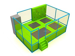 Kids Small Indoor Trampoline with Climbing Wall