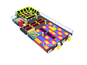 professional colorful indoor large trampoline park factory in China