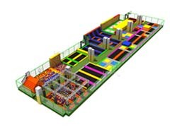 Promotional large multi-function children playground indoor trampoline park