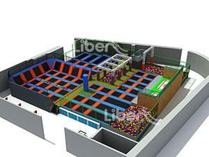 China Trampoline Seller to Build Large Commercial Trampoline Park with Basketball and Dodgeball Zone