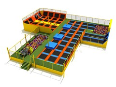 Indoor and Outdoor professional Large Cheap trampoline park with foam pit