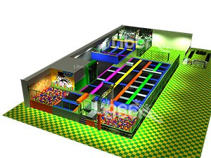 China Popular According to Building Size Trampoline Park Manufacturer