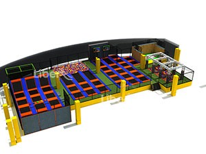 China professional indoor large trampoline park seller