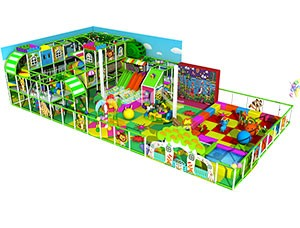 Jungle Theme Kids Indoor Soft Play Castle with Toddler Play Area