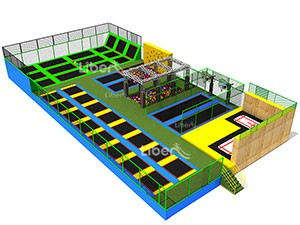 Kids Indoor Rectangular Trampoline Park Producer China
