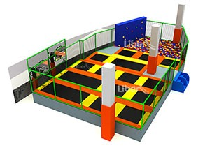 Customized Kids Indoor Trampoline with Large Foam Pit