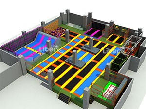 Large Kids Indoor Playground Trampoline Park Supplier
