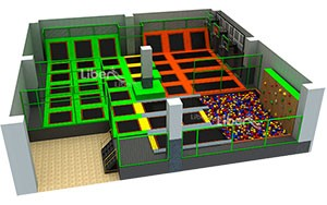 Large Accoding to Building Customized Trampoline Park Design