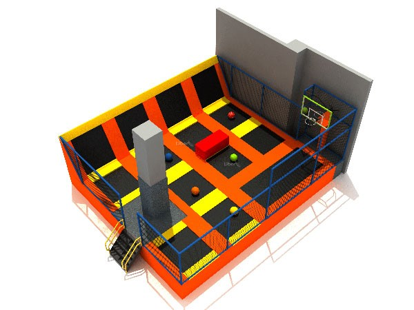 Shopping Mall Small Kids Indoor Trampoline Park