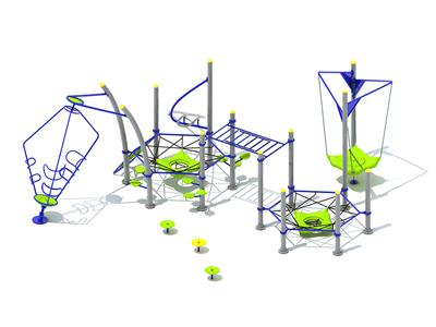 Fitness Cluster Series Outdoor Play Structure