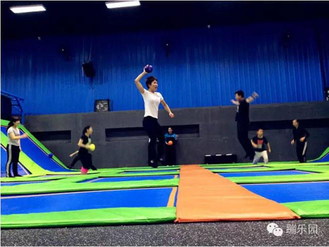 Customize Trampoline Park-Dodgball Zone