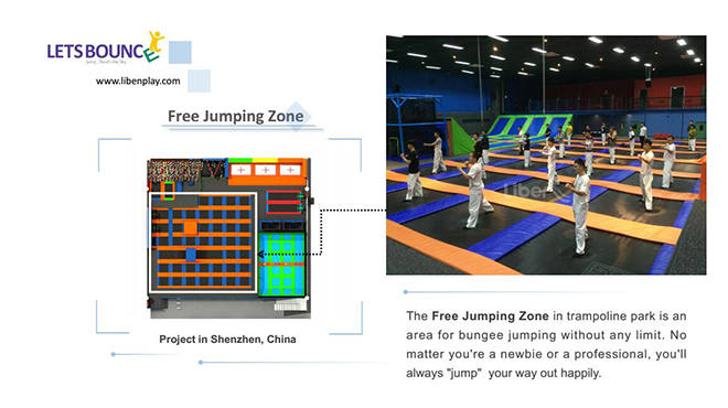 Trampoline Park Free Jumping Zone
