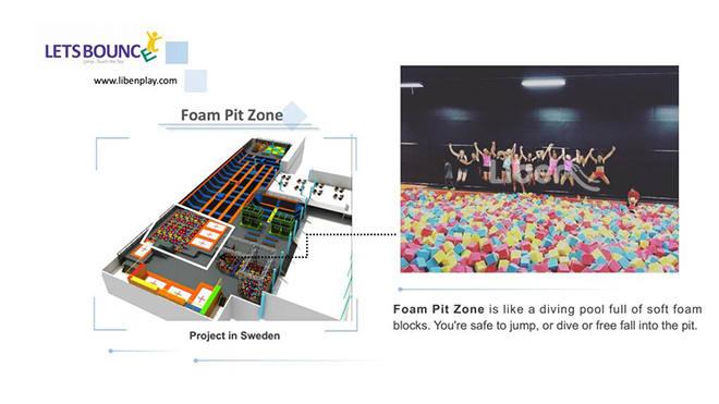 Trampoline Park Foam Pit Zone