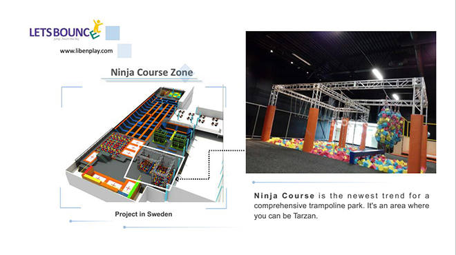 Trampoline Park Ninja Course