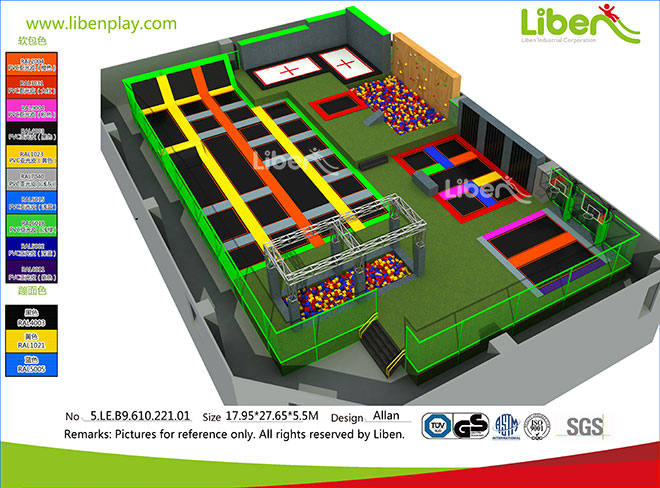 China High Quality Large Indoor Trampolin Park Supplier