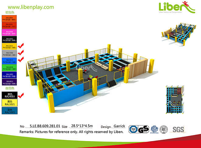 2017 Commercial Used Indoor Trampoline Park Manufacturer In China