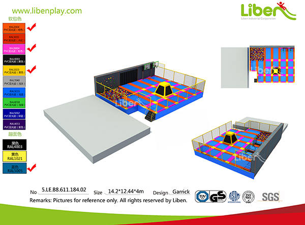 Kids indoor trampoline park design