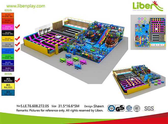 Liben Indoor Trampoline and Soft Play Center Project in Malaysia