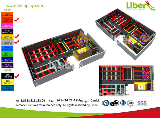 Liben Indoor Trampoline  Park Project in Jiangyin, China