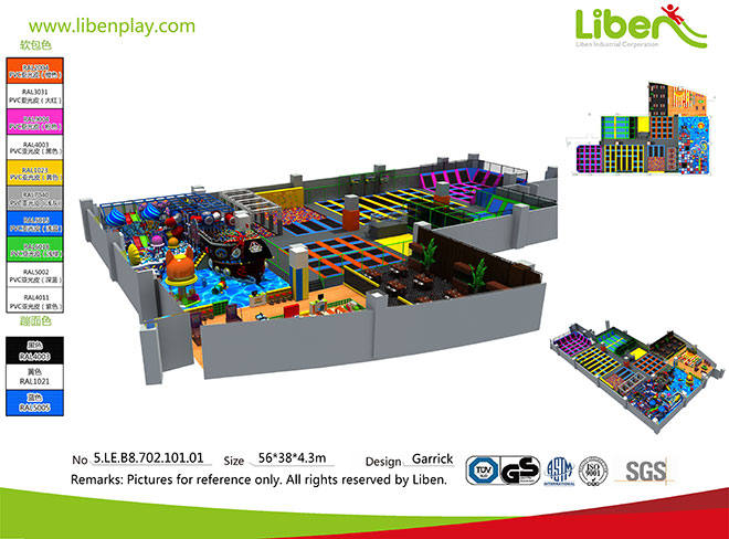 Commercial Indoor Soft Play Playground Trampoline Park Seller Made in China