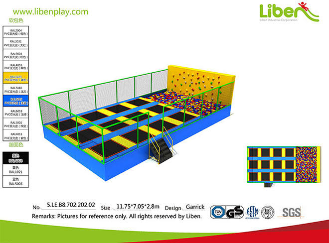 Made in China High Quality Rectangular Foam Pit Trampoline Park Seller