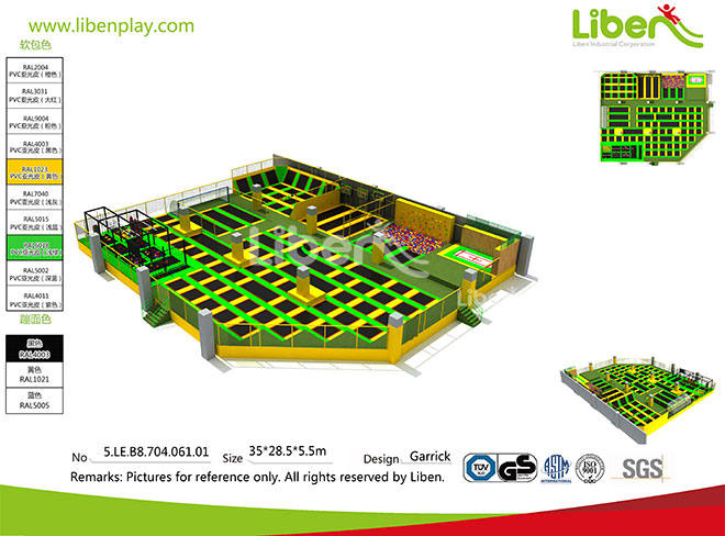 Liben high quality customized trampoline park builder (5)